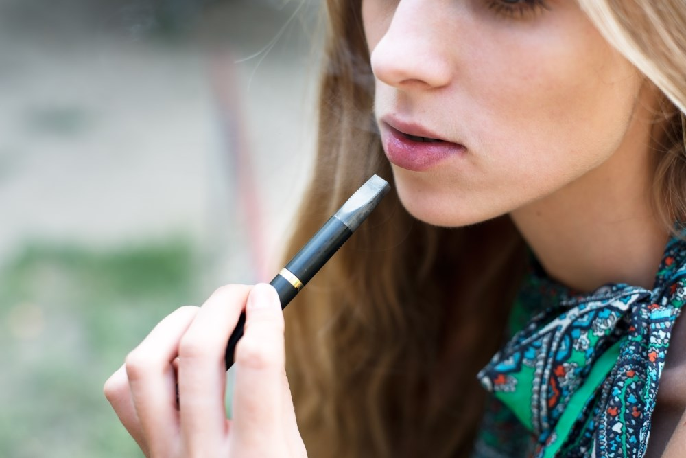 Vaping use increased when adolescents used e-cigarettes with higher levels of nicotine.