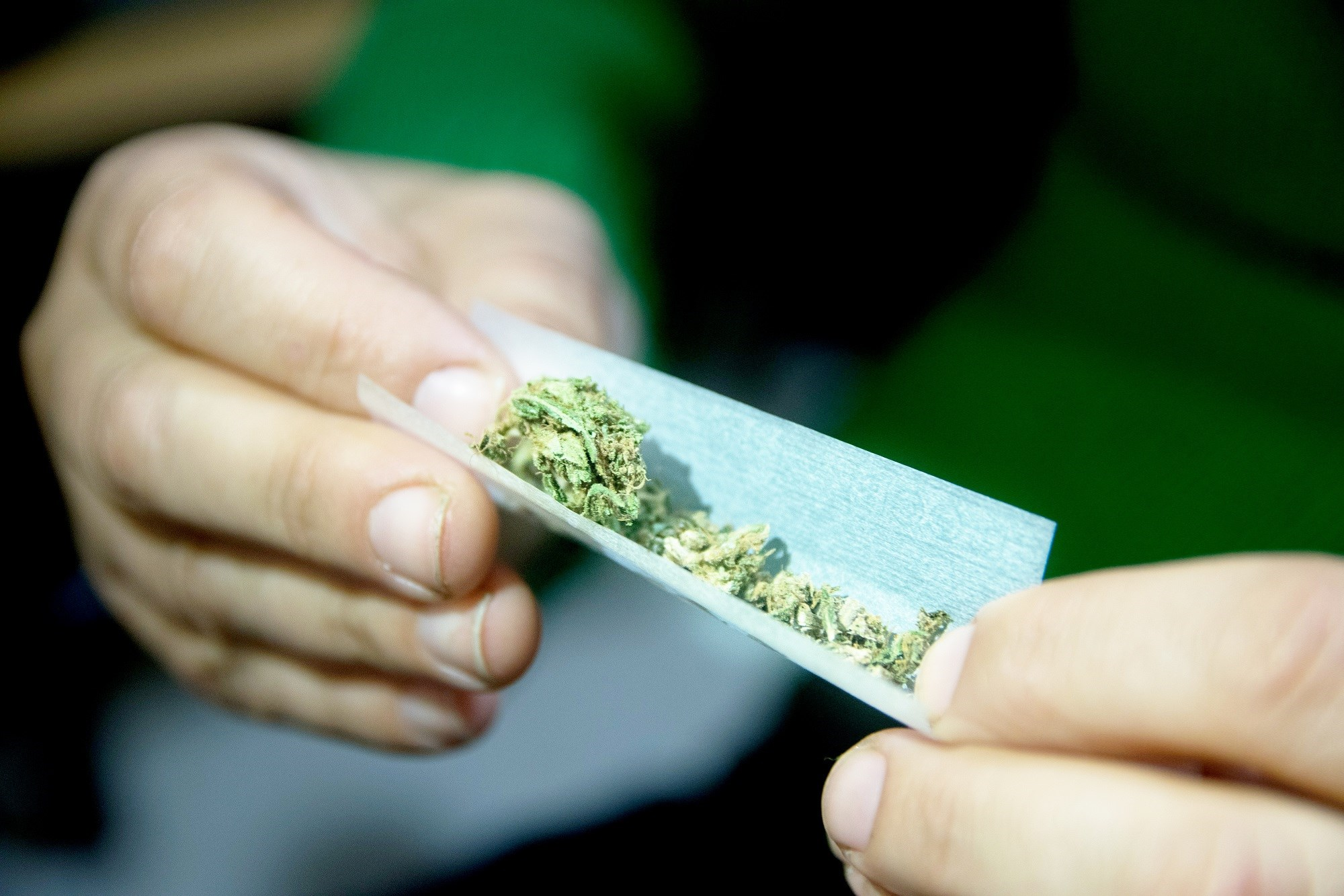 The prevalence of marijuana use was 20, 14.1, and 12 percent in states where recreational use is legal, medical use is legal, and no use is legal, respectively.